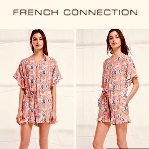 FRENCH CONNECTION Peach Blossom Romper NWT